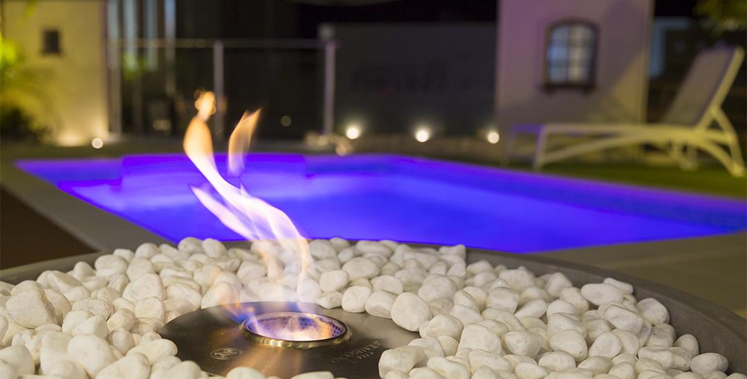 水・光・火が創る癒しの空間の写真