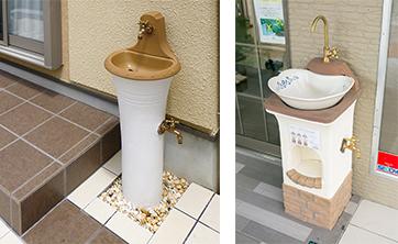 お庭を引き立てるディーズガーデンの立水栓