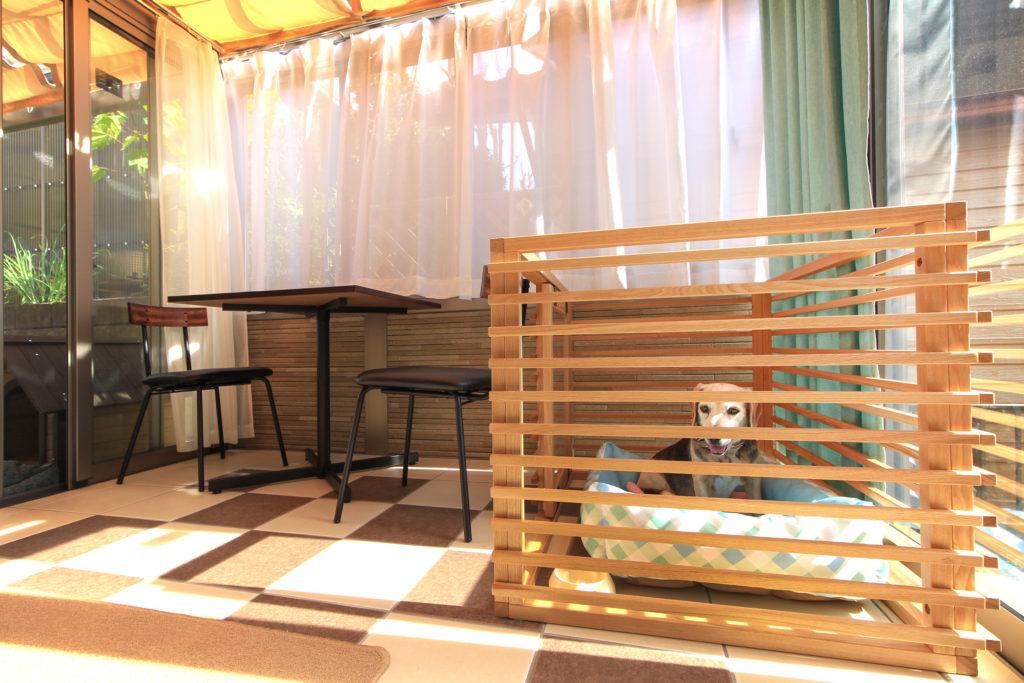 三協アルミ製ガーデンルーム「ハピーナ」