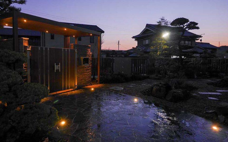 旅館のような日本庭園