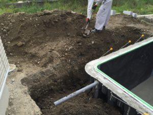 家庭用プール外構工事