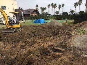 プール施工中(掘削)