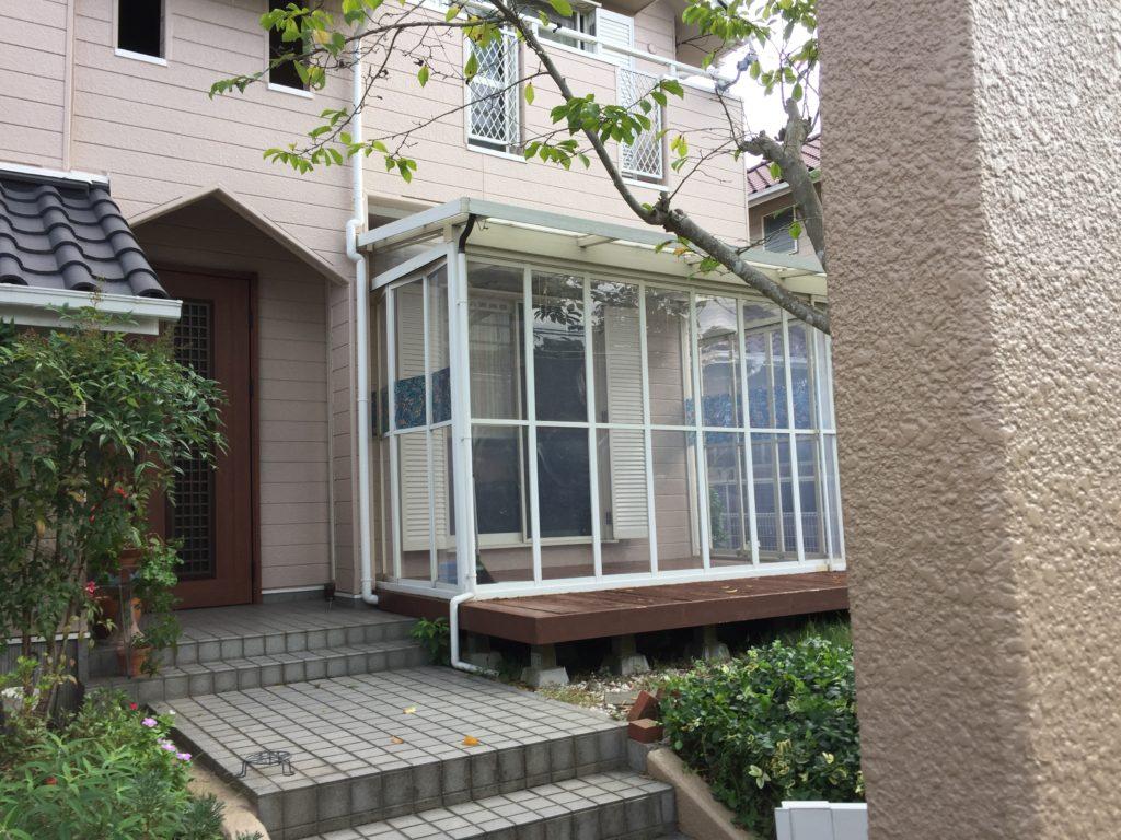 【LIXILココマ】既存ガーデンルームをココマへリフォーム【神戸市西区】(before)