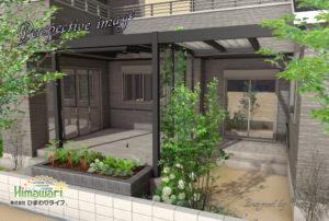 植栽を楽しむテラス空間