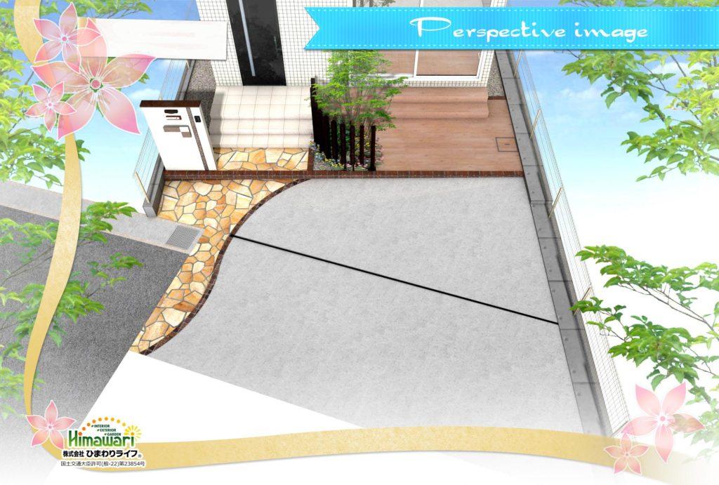 【新築外構】リビングから繋がるテラスがあるお庭【神戸市垂水区】
