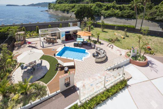 別荘にリゾート空間を!ワンちゃんと暮らすくつろぎのお庭 淡路島 洲本市