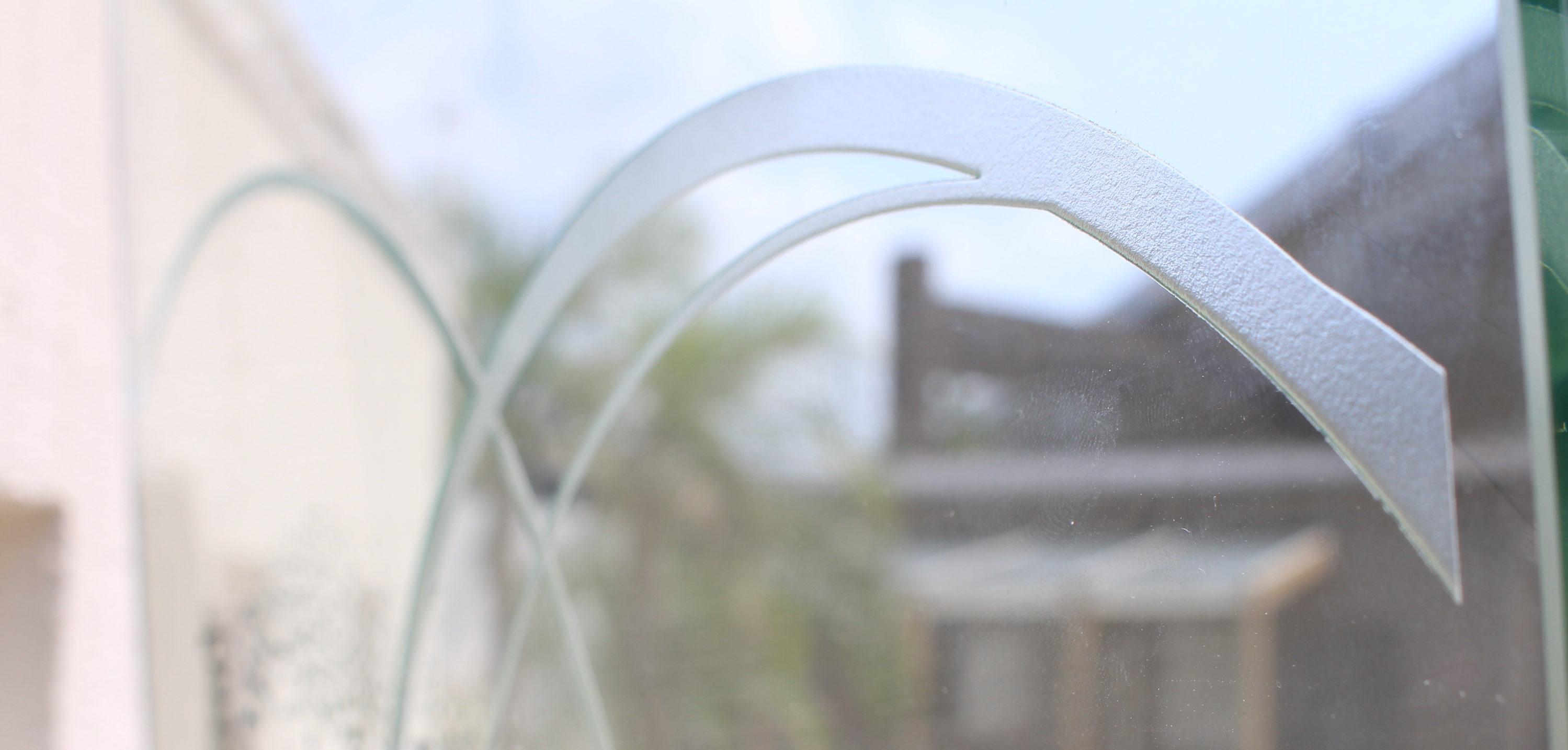 ガラス表札の模様