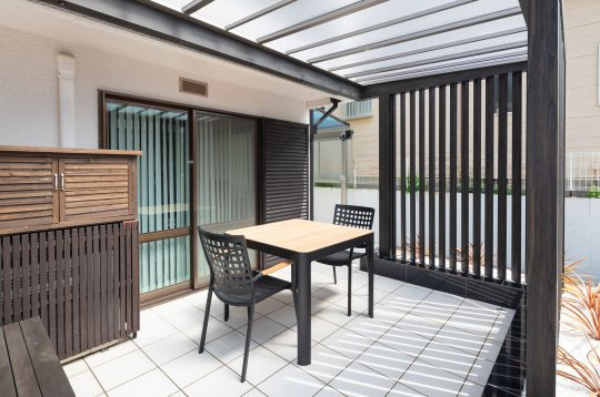 ホームヤードルーフが作るテラス(神戸市垂水区)