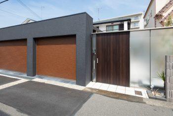 神戸市垂水区小束台のシャッターゲートの施工例