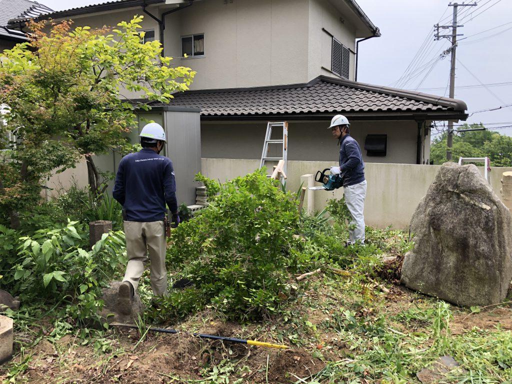 神戸市灘区お庭のリフォーム