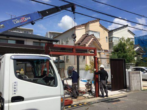 神戸市垂水区 シャッターゲート工事中