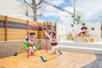 家族で過ごすガーデンリビング(神戸市北区)